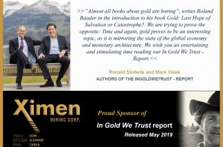 Ximen Mining Corp – Proud Sponsor of In Gold We Trust – Report
