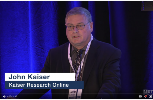 John Kaiser, Kaiser Research Online at Metals Investor Forum on Sep 6-7, 2019 in Vancouver