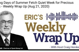 The Dog Days of Summer Fetch Quiet Week for Precious Metals – Weekly Wrap Up (Aug 21, 2020)