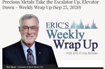 Precious Metals Take the Escalator Up, Elevator Down – Weekly Wrap Up (Sep 25, 2020)